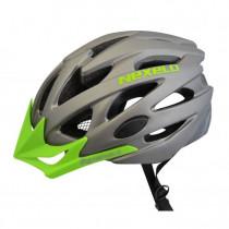 Cyklo přilba Nexelo Straight 2020, šedo-zelená, M (55-58)