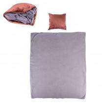 Masážní polštář a deka inSPORTline Trawel (Barva tmavě hnědá)