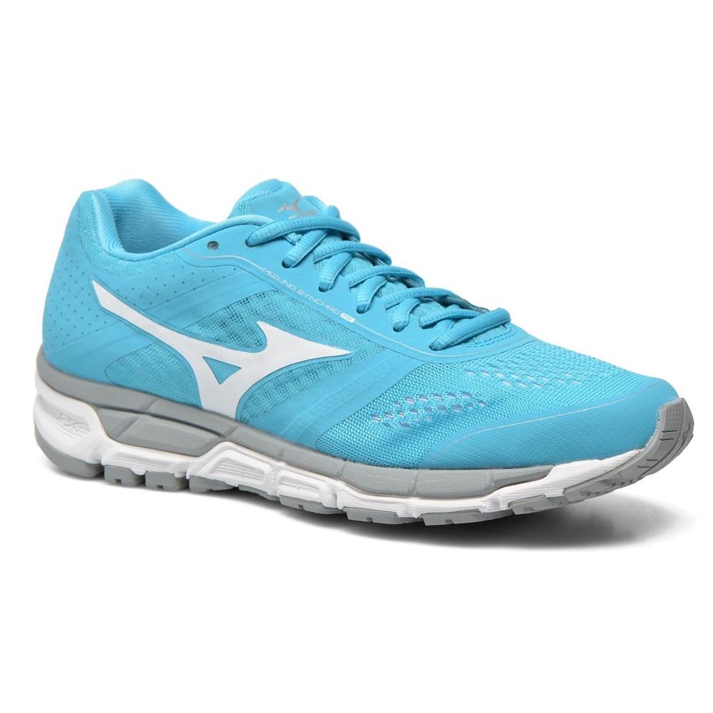 Dámské běžecké boty MIZUNO Synchro MX váží pouhých 245 gramů. Jsou určeny  především pro silnice a pevné cesty. Nabízí unikátní mezipodešev U4iCX. 8cde33f40e5